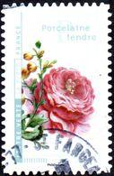 Oblitération Cachet à Date Sur Autoadhésif De France N° 1416 - Fleurs Et Métiers D'Art - Porcelaine - Rose - France