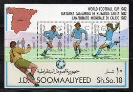 ETP417 - SOMALIA 1982 , Souvenir Sheet BF N. 11 (Michel 12) ***  Calcio Football Espana - Somalia (1960-...)