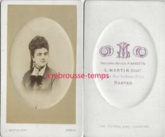 CDV Joli Portrait De Femme- Photographie L. Martin à Nantes - Fotos
