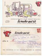 Buvard La Vache Qui Rit Enveloppe N°1 Lot De 10 Buvards De La Série Complète Les Métiers Illustré Par Hervé Baille - Leche