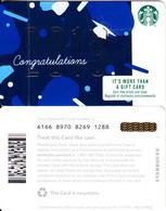 USA - 2019 Congratulations, Starbucks Card, CN : 6166, Unused - Cartes Cadeaux