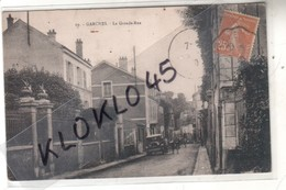 92 GARCHES ( Hauts De Seine ) La Grande Rue - Animé Voiture  Décapotable 119 Y A I - CPA N° 19 Généalogie - Garches