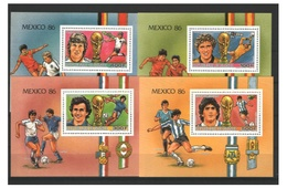 Soccer World Cup 1986 - GUINEA - 4 S/S De Luxe MNH - Coupe Du Monde
