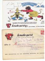 Buvard La Vache Qui Rit Enveloppe N°3 Lot De 10 Buvards De La Série Complète Les Duels Illustrés Par Dubout - Leche
