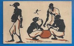 #75 - PARIS - EXPOSITION COLONIALE1931 - SOUVENIR - ILLUSTRATEUR: P.A. - UN DÎNER EN AFRIQUE OCCIDENTALE... - Illustrateurs & Photographes
