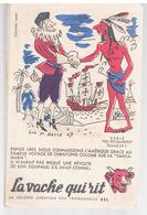 Buvard La Vache Qui Rit Enveloppe N°5 Lot De 10 Buvards De La Série Complète Les Découvertes Par Luc M.BAYLE - Leche