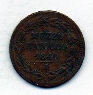 VATICANO, 1/2 Baiocco, Copper, Year 1849-R, KM #1340 - Vaticaanstad