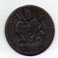 VATICANO, 1 Baiocco, Copper, Year 1801, KM #1263 - Vaticano (Ciudad Del)