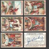 Liebig - Vintage Chromos - Series Of 6 / Série Complète - Le Pêcheur Et Sa Femme - En Français - Liebig