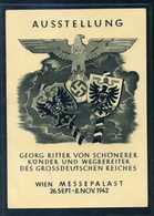 Ostmark; AK - Ausstellung Georg Ritter Von Schönerer; 1942; SStpl. - Weltkrieg 1939-45
