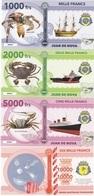 Juan De Nova Terres Australes Franc 1000 2000 5000 10000 Francs 2018 UNC Polymer Lemberg-Zp - Bankbiljetten
