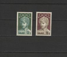 Germany - Saar 1956 Olympic Games Melbourne Set Of 2 MNH - Verano 1956: Melbourne