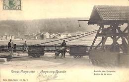 57 - Gross Moyeuvre Grande - Sortie De La Mine - Ausfuhr Der Erzgrube (animation, 1906, RARE)  (vente Unique) - France