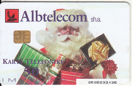 ALBANIA - Santa Claus, Christmas 2002, Banka E. Kursimeve, Albtelecom Telecard 50 Units, Tirage 90000, 11/02, Used - Albanien