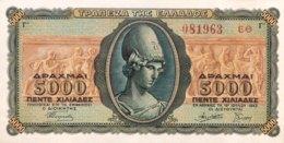 Greece 5.000 Drachmai, P-122 (19.7.1943) - UNC - Griechenland