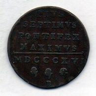 VATICANO, 1 Baiocco, Copper, Year 1816-B, KM #1279 - Vaticano (Ciudad Del)