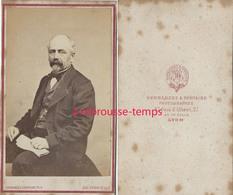 CDV Homme De Caractère-photo Hernandez Et Fontaine à Lyon - Old (before 1900)