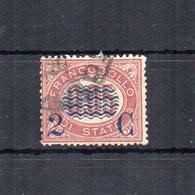 Italia - 1878 - Sovrastampa 2 C E Linee Ondulate Su Francobolli Di Servizio Del 1875 - 2 C Su 0,05 - Usato - (FDC18690) - Dienstpost