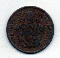 VATICANO, 1 Baiocco, Copper, Year 1850-R, KM #1345 - Vaticaanstad