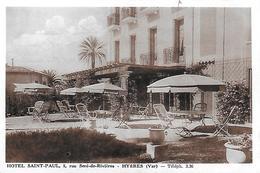 83)  HYERES  -  Hotel SAINT PAUL  - 5 Rue Seré De Rivières - Hyeres