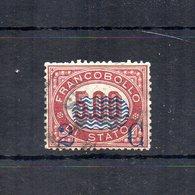 Italia - 1878 - Sovrastampa 2 C E Linee Ondulate Su Francobolli Di Servizio Del 1875 - 2 C Su 5,00 - Usato - (FDC18694) - Dienstpost