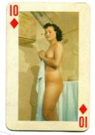 Carte Format 8,4 X 5,5 - Dix De Carreau - Femme Nue - Non Classés