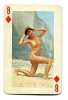 Carte Format 8,4 X 5,5 - Huit De Carreau - Femme Nue - Non Classés
