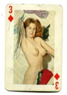 Carte Format 8,4 X 5,5 - Trois De Carreau - Femme Nue - Non Classés