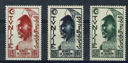French Tunisia, Hermes, 1950, MNH VF Complete Set Of 3 - Tunisie (1888-1955)
