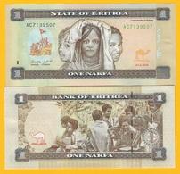 Eritrea 1 Nakfa P-13 2015 UNC Banknote - Eritrea