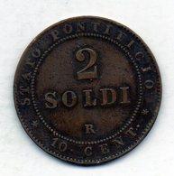 VATICANO, 2 Soldi, Copper, Year 1867, KM #1373 - Vaticano