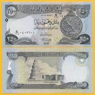 Iraq 250 Dinars P-97 2018 UNC Banknote - Iraq