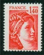 2102a Sabine 1.40 Rouge GM - Sans Phospho - Gomme Semi Brillante TD6-4 - 1977-81 Sabina Di Gandon