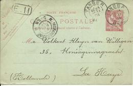 1904 Entier De Tanger Vers La Haye (Den Haag), Pays Bas - Marokko (1891-1956)