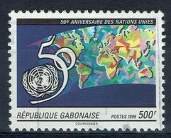 Gabon, United Nations, 50th Anniv., 1995, VFU - Gabon