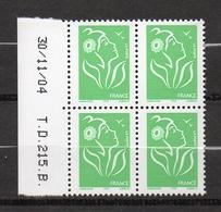 Timbre De France Coin Daté (30.11.04 ) N°3733 Neuf ** Sans Trace De Charnière - Ecken (Datum)