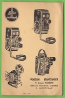 Pochette  Pour Photos Et Pellicules  -  Publicité BOLEX  PAILLARD  -  Maison HUNTZINGER  -  JADOTVILLE  CONGO BELGE - Publicités