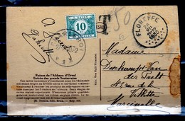 Postkaart Van Charleroi P1P Via Floreffe Naar Marcinelle - Taxes