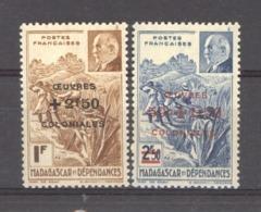 Madagascar  :  Yv  284-85  ** - Madagascar (1889-1960)
