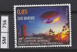 SASN MARINO  2013Simposio Oggetti Volanti  Usato - San Marino