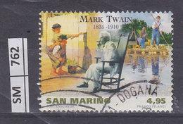SAN MARINO  2010Mark Twain 4,95 Usato - Saint-Marin