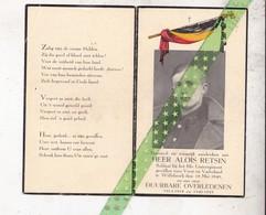 Alois Retsin, Soldaat 3de Linieregiment Willebroek 1940 - Décès