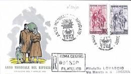 1960 FDC - Edizioni Rodia - Anno Mondiale Del Rifugiato - Raccomandata Con Timbro Di Arrivo - Flüchtlinge