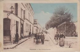 CPA Segonzac - Rue Goussy-Laurent  (jolie Animation, Attelage Avec âne) - Otros Municipios
