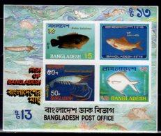 1983 Bangladesh - Fishes And Marine Life - Imperforated MS - MNH**  MI B 11 KW 11 MIE Fish, Krill, - Bangladesh