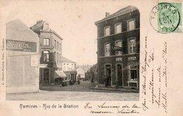 Tamines  Rue De La Station  Peintre Vitrier  Restaurant Circulé En 1901 - Sambreville
