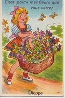 Dieppe  76   Carte A Systeme ( C'est Parmi Mes Fleurs Que Vous Verrez...10 Vues De Dieppe - Dieppe