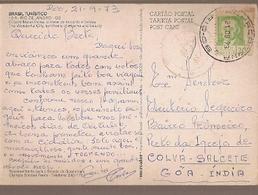 Brazil & Marcofilia, Tourism Serie, Wonderful City, Rio De Janeiro To Colva Salcete, Goa India 1973 (12) - Brazilië