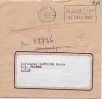 """Enveloppe 1962 Envoyé En F.M. Au S.P. 88.836 Avec 3 Cachets Machine De Tri """"POSTE AUX ARMEES - AFN"""" Au Dos - Marcophilie (Lettres)"""