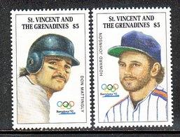 St.Vincent Grenadines  1731-32  **  BASEBALL  OLYMPICS - St.Vincent & Grenadines